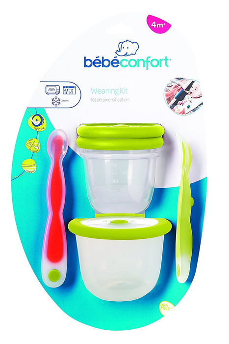 Bébéconfort Festive Meal Set Stage 1 Adventure (Spoon Soft Spoon Sensitive + 2 Storage Boxes 150 ml + 1 x 300 ml)