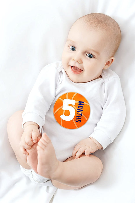 Tiny Ideas First Year Monthly Milestone Sports Baby Belly Stickers Ba Littleduckusa Com