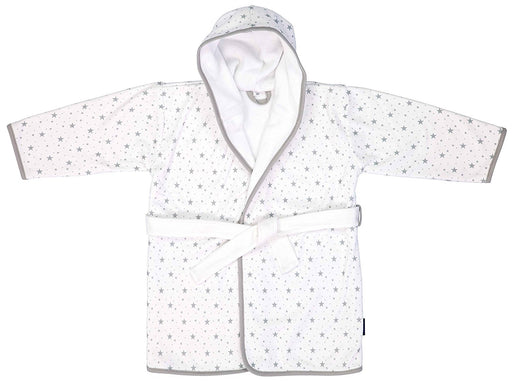 bébé-jou Clouds & stars - baby bath robes (Cotton, Grey, White, Pattern)