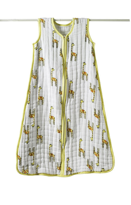 aden + anais Muslin Cozy Sleeping Bag, Jungle Jam (Giraffe, 6-12 Months)