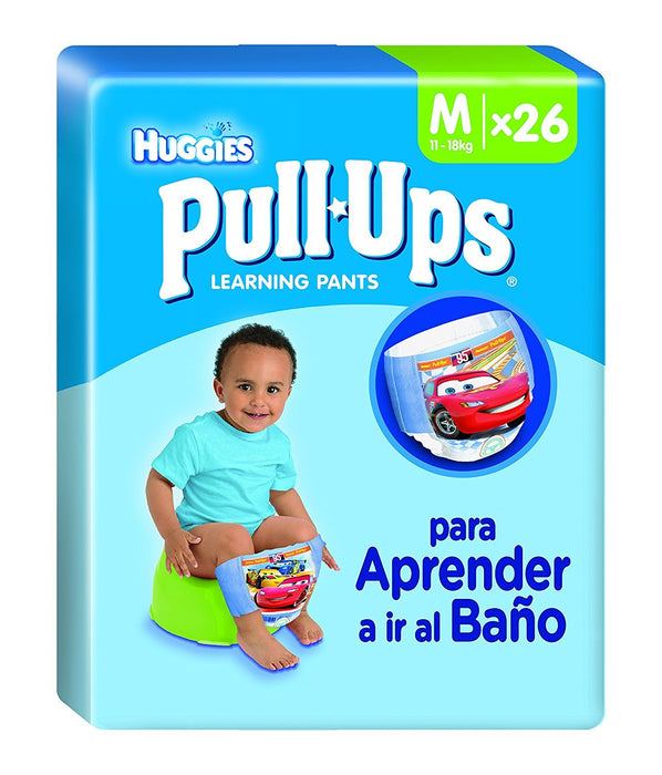 Huggies Pull-Ups 26 training nappies boys size 4/M - Set of 2