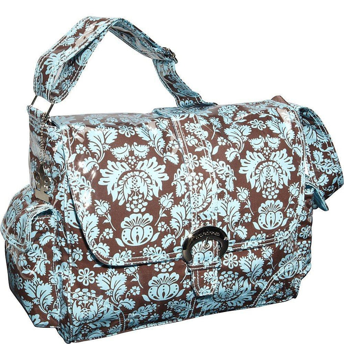 Kalencom Laminated Buckle Bag, Toile Chocolate/Blue