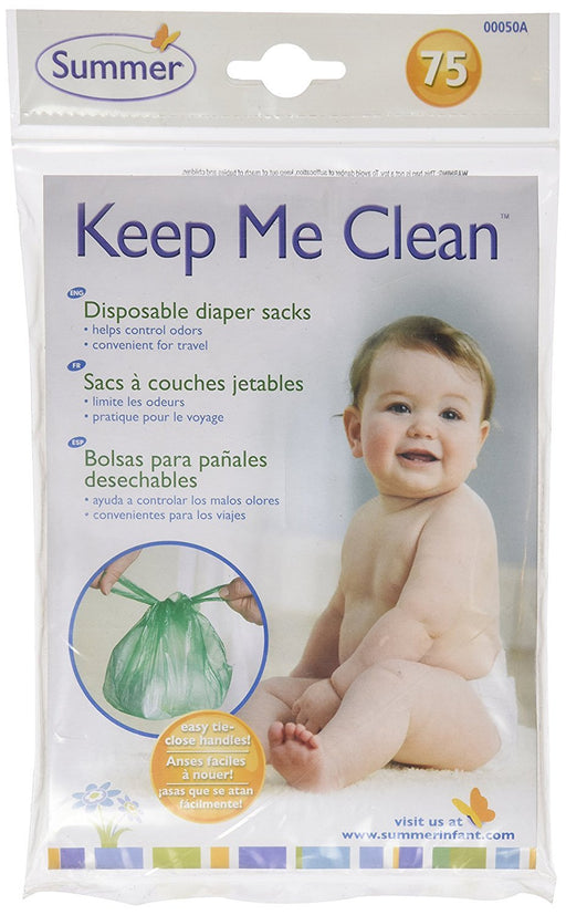 Summer Infant, Clean & Green, Keep Me Clean! Disposable Diaper Sacks, 75 Count