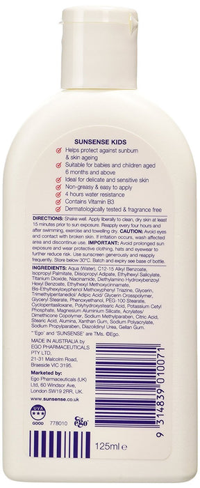 Sunsense Kids UVA & UVB Broad Spectrum Lotion SPF50+,125ML