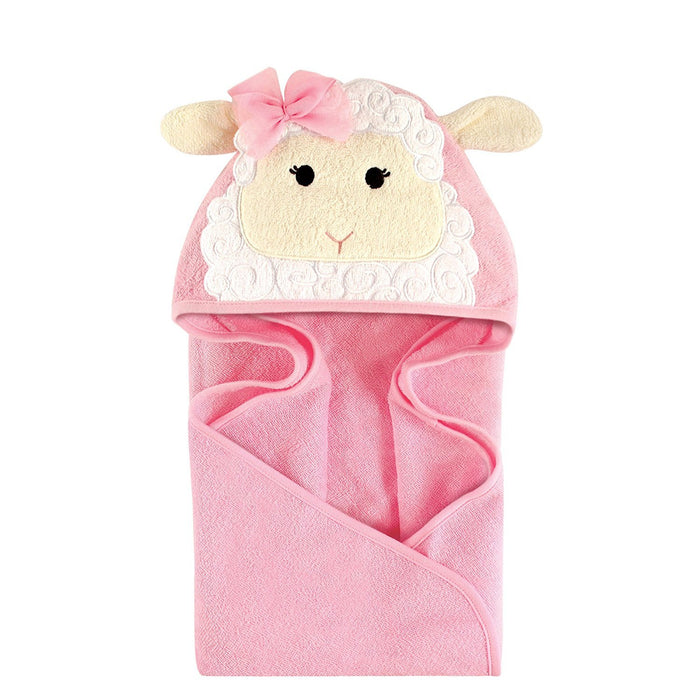 Hudson Baby Animal Hooded Towel, Little Lamb, 33''x33''