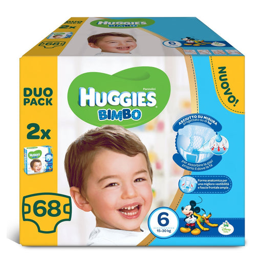 Huggies - Bimbo - Nappies - Size 6 (15 - 30 kg) - 2 x 34 Nappies