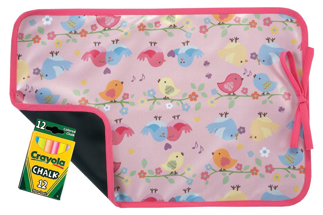 AM PM Kids! Reversible Placemat/Chalkboard, Song Birds