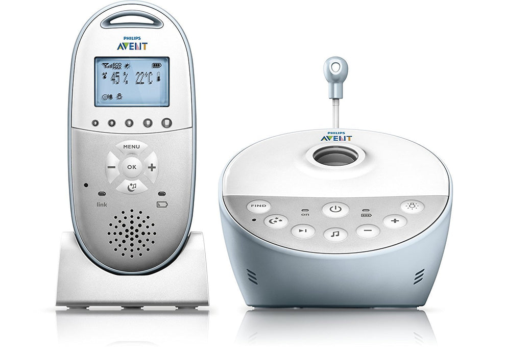 Philips AVENT DECT Baby Monitor SCD580/01 with Starry Night Projector and Climate Alert