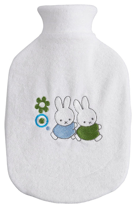 bébé-jou 3114 Hot Water Bottle and Cover with Miffy Retro Design Silver