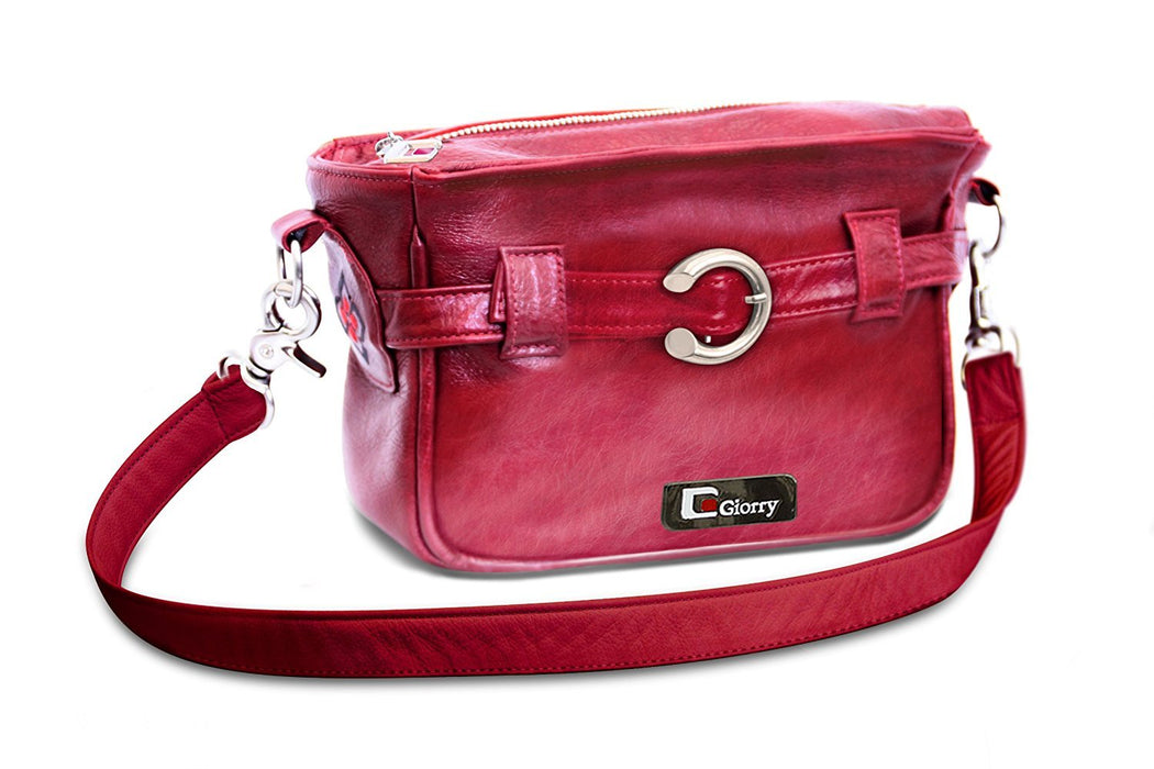 Giorry Marilyn Baby Changing Bag Set (Burgundy Leather)