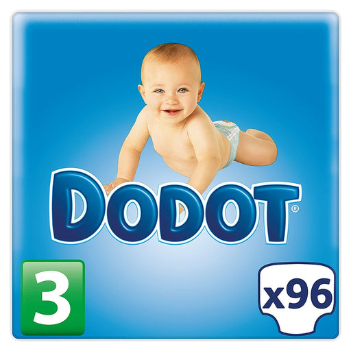 Dodot – Pack of Baby Nappies - Size 3, 4 – 10 kg, Pack of 96
