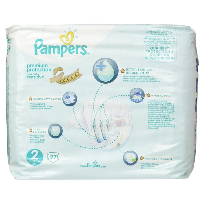 Pampers New Baby Sensitive Nappies for Babies(Pack of 2),74 Nappies