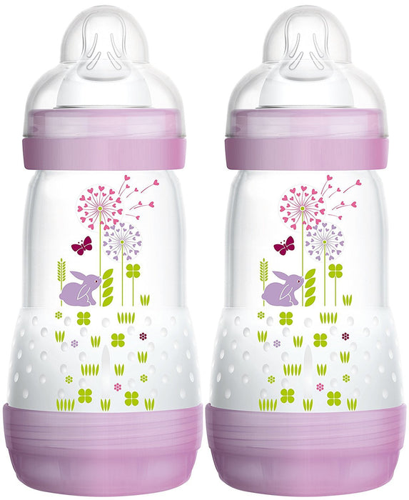 Mam 99921522 Anti-Colic Baby Bottle 260 ml 2-Pack for Girls