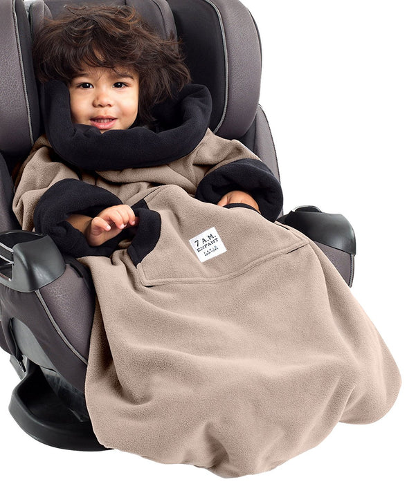 7AM Enfant Easy Cover Bunting Bag Fleece, Taupe, Large