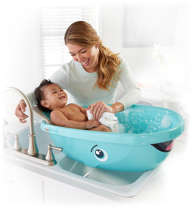 Fisher-Price Whale of a Tub Bathtub, White