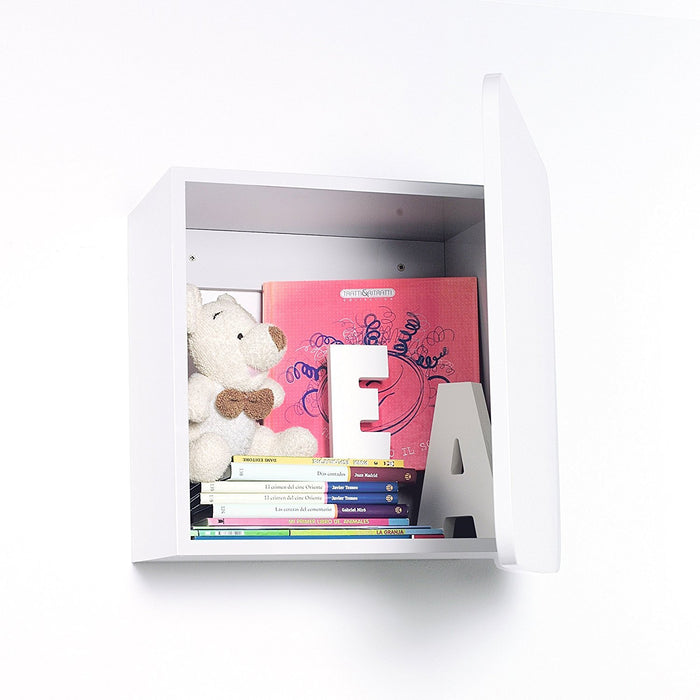 Alondra H555 - Box Small Children's Wall Cabinet, with door matte white