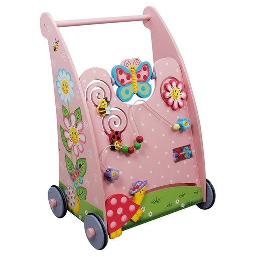 Fantasy Fields by Teamson Magic Garden Childrens Wooden Toddler Activity Walker Kids Push Along W-11639A