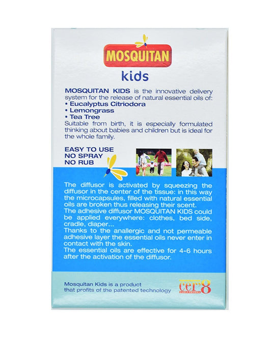 MOSQUITAN Mosquito Patches Deet Free Perfect for Kids - Pack of 24