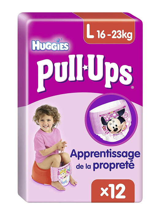 Huggies Pull Ups size L Briefs Girls 12 pk