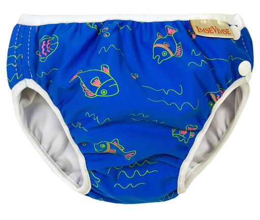 Imse Vimse Swim Diaper (6 to 8 kg, Small, Blue, Fish)