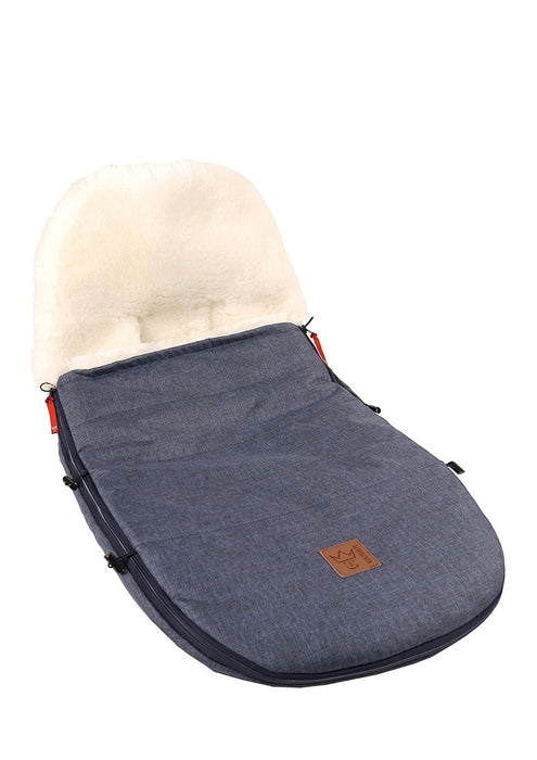 Kaiser Perfectly Fitting Footmufff or Bugaboo And Joolz Sheepskin Natural White (Navy Melange, 6512172)