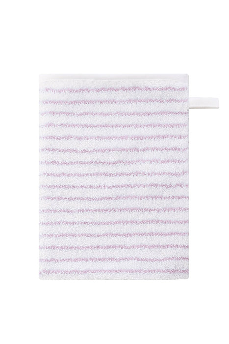Bellybutton Wash Cloth (White/ Rose Striped)