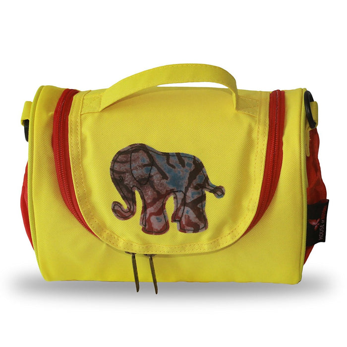 House of Botori Toju Elephant Lunch Bag, Red and Yellow