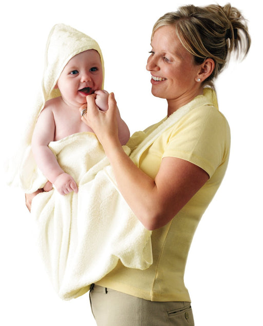 Clevamama Splash and Wrap Baby Bath Towel (Cream)
