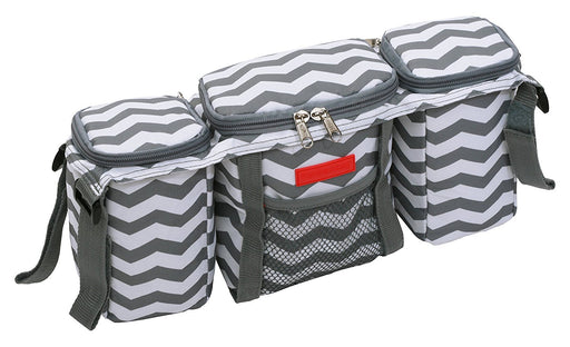 Miracle Products Buggy Organiser (Chevron Grey/White)