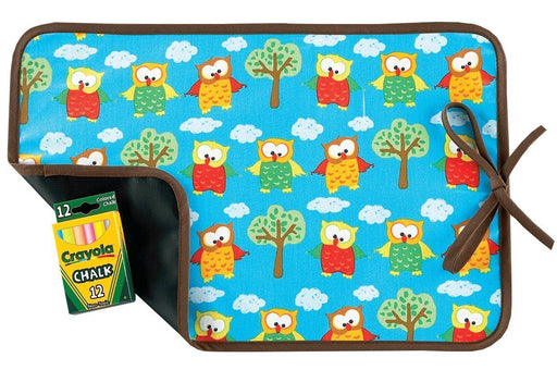 AM PM Kids! Reversible Placemat/Chalkboard, Hoot Owls