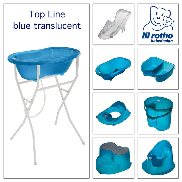 Rotho Babydesign Top Nappy Pail (Translucent Blue)