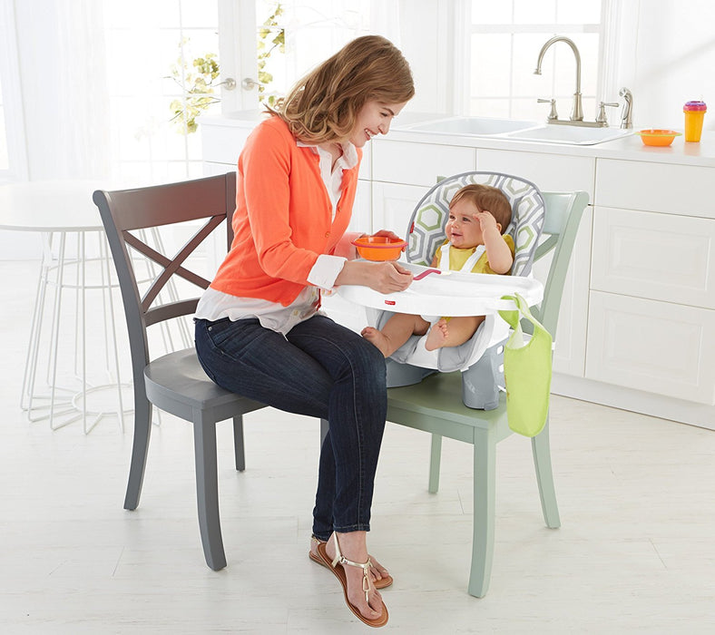 Fisher-Price SpaceSaver High Chair, Geo Meadow