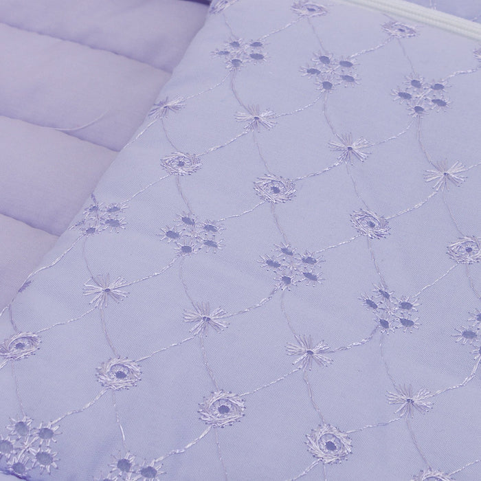 Junior Joy Embroidery Anglaise Baby Nest (Lilac)