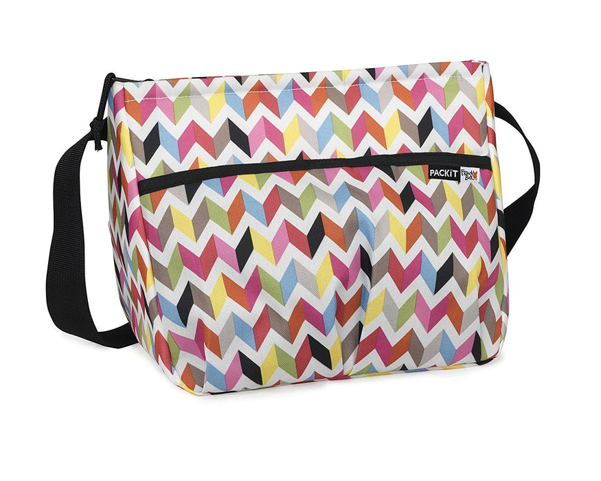 PackIt Baby Freezable Shoulder Bag for Baby Bottles, Ziggy Print