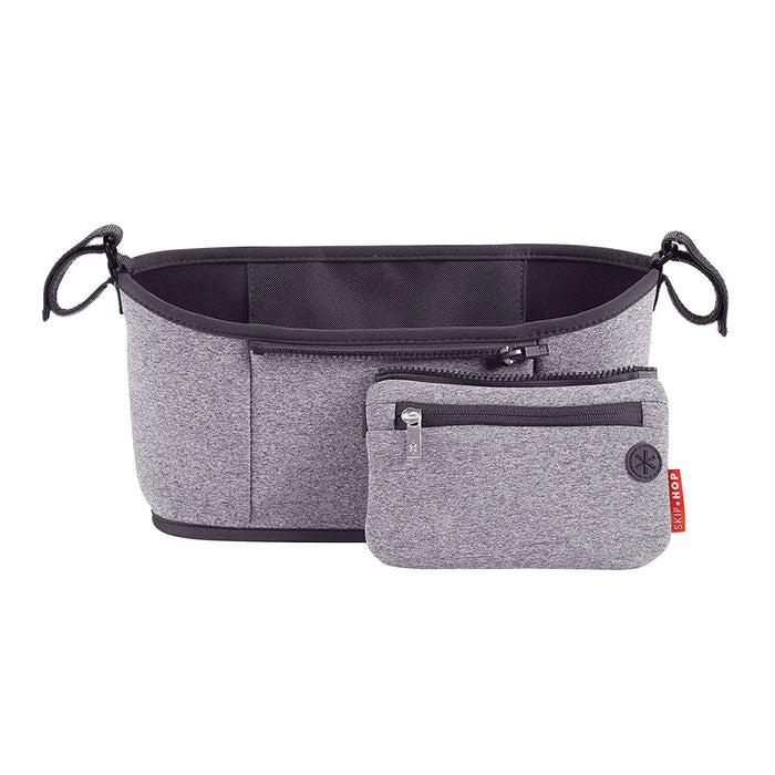Skip Hop Grab-and-Go  Stroller Organizer, Universal Fit, Heather Grey