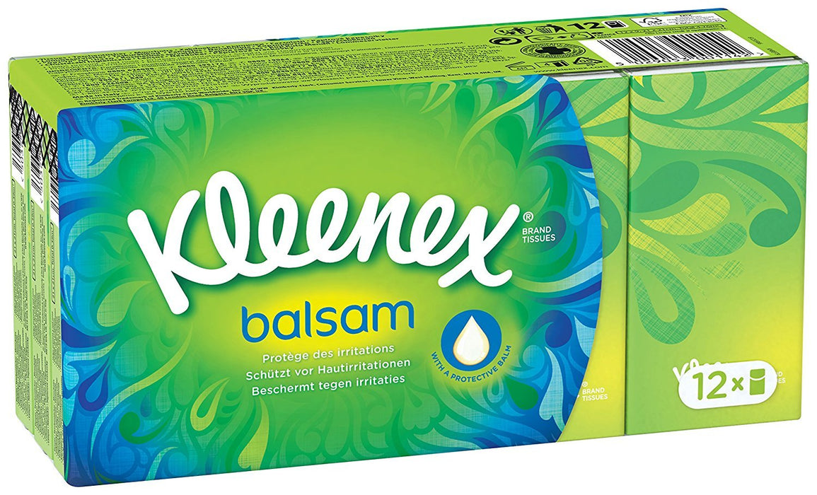 Kleenex Balsam 12 Tissues (Pack of 4)