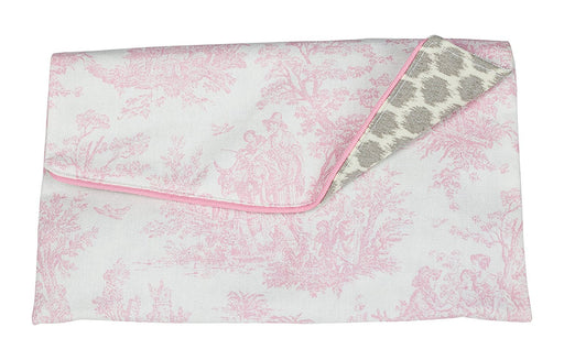 Caught Ya Lookin' Madison Clutch, Toile, Pink/White/Gray, One Size