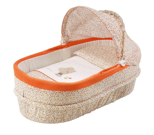 Petit Praia Linned Carrycot with Top (Orange)