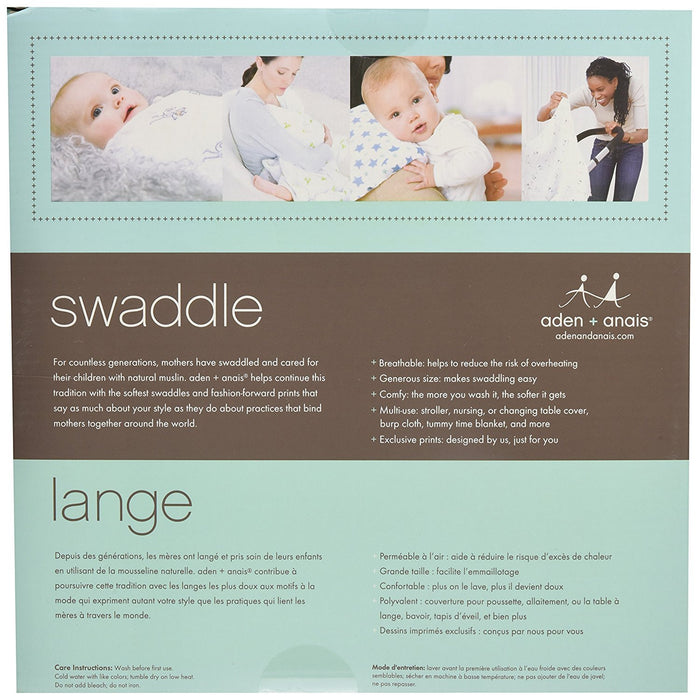 aden + anais Classic Swaddle Super Star Scout (Pack of 4)