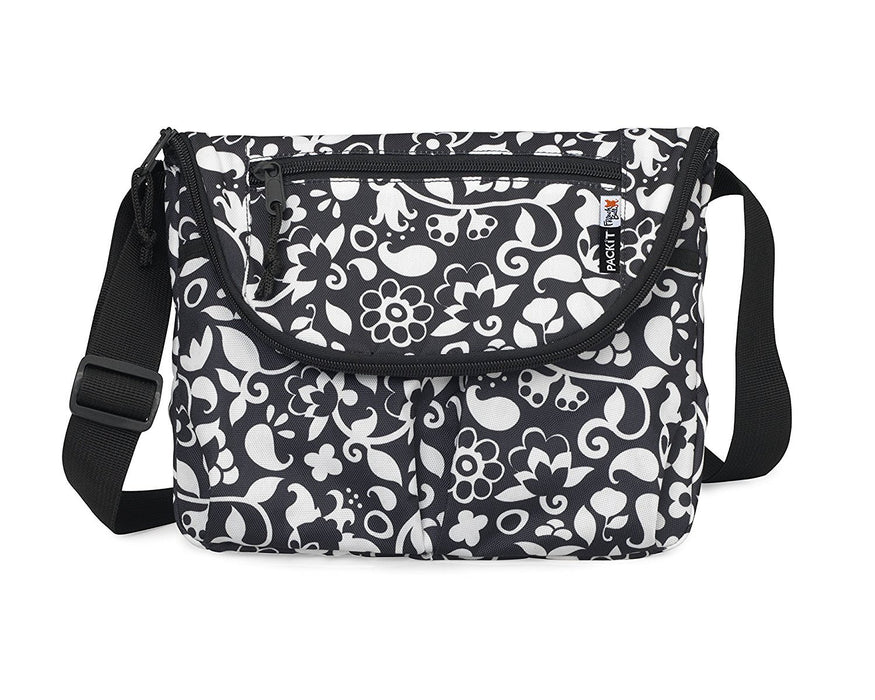 PackIt Baby Freezable Crossbody Bag for Bottles with Flap Closure, Vine Print