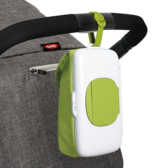 OXO Tot On-the-Go Wipes Dispenser with Diaper Pouch, Green