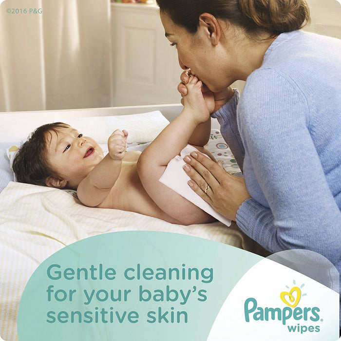 Pampers Baby Wipes Sensitive 7X Refill, 448 Diaper Wipes