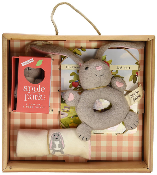 Apple Park Baby Gift Crate, Bunny