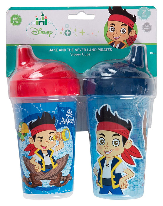 Disney Jake and The Neverland Pirates Sippy Cups, Blue/Red, 2 Count