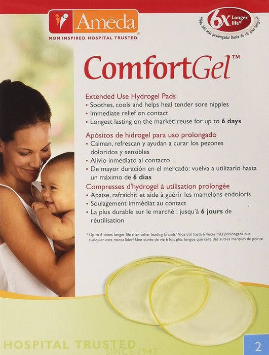 Ameda Comfortgel Extended Use Hydrogel Pads - Pack of 2