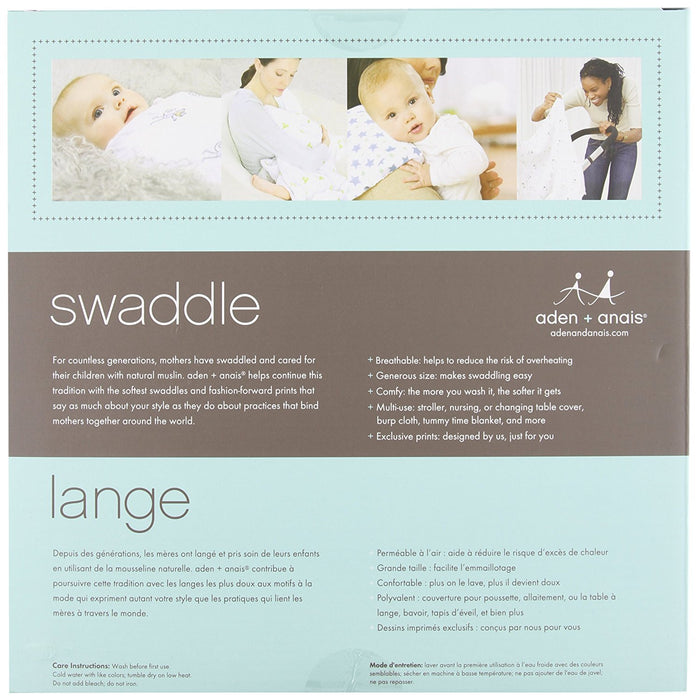 aden + anais Classic Swaddle for the Birds (Pack of 4)