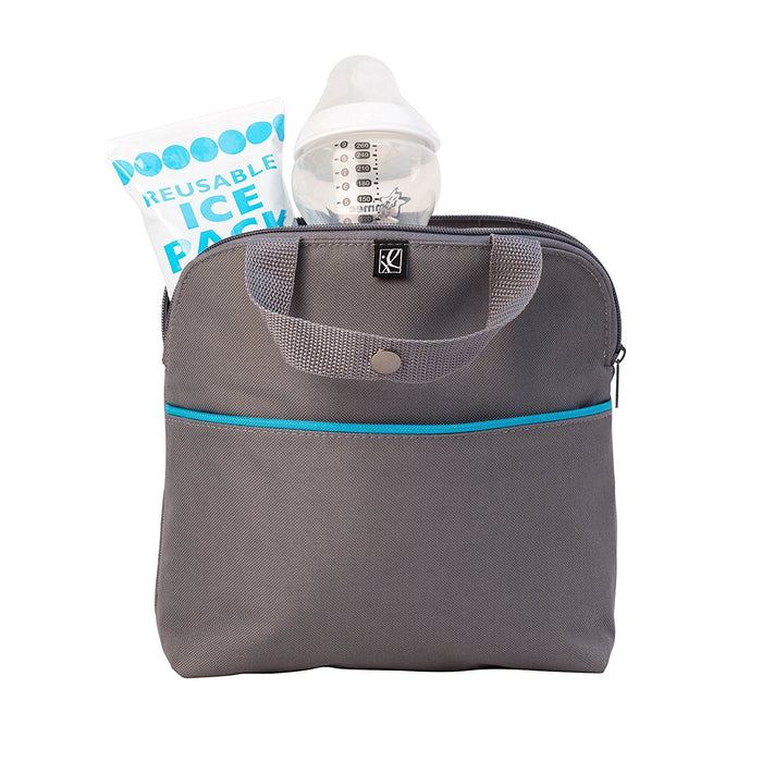 J.L. Childress MaxiCOOL 4-Bottle Cooler, Grey/Teal