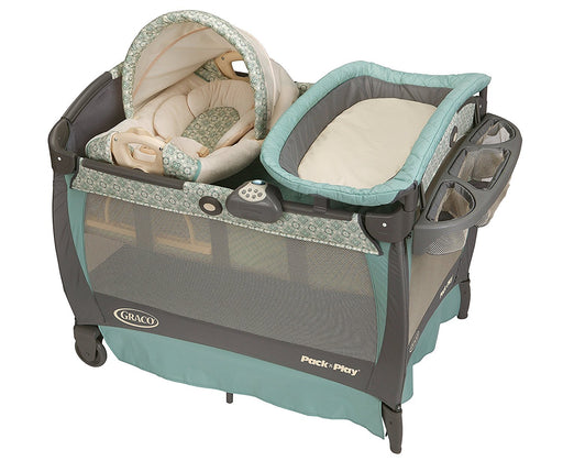 Graco Pack 'n Play Playard Bassinet Changer with Cuddle Cove Rocking Seat, Winslet