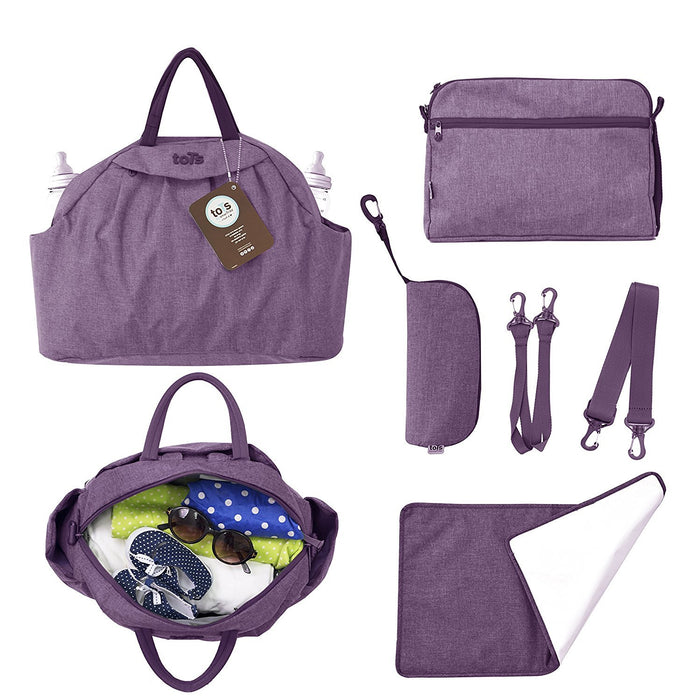 Tots by Smartrike Chic Baby Changing Bag / Bag in Bag 45 x 14 x 32 cm with Range of Accessories Purple