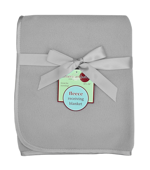 "American Baby Company Fleece Blanket, Gray, 30"" x 30"""